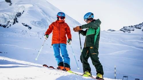 Ski lessons private ski school saas-fee
