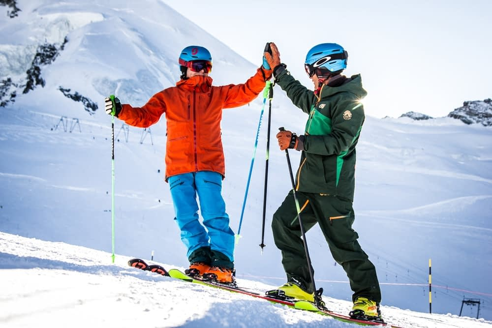 ski lessons in saas fee 1