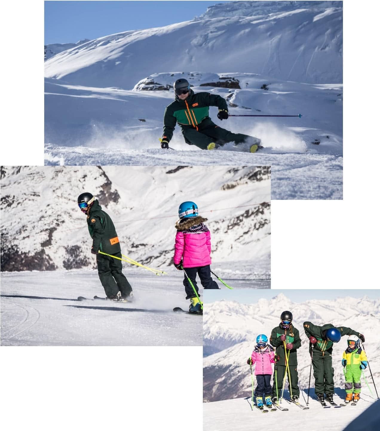 saas fee ski school instructors