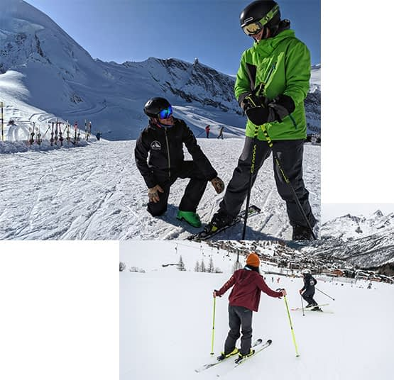ski instructors grimentz zinal